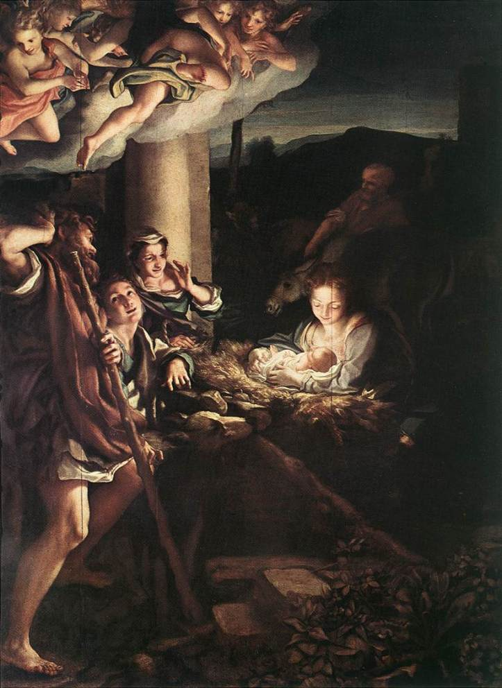 Correggio_Natividad (Holy Night)_1528-30_Oleo sobre Tela_Gemaeldegalerie_Dresden