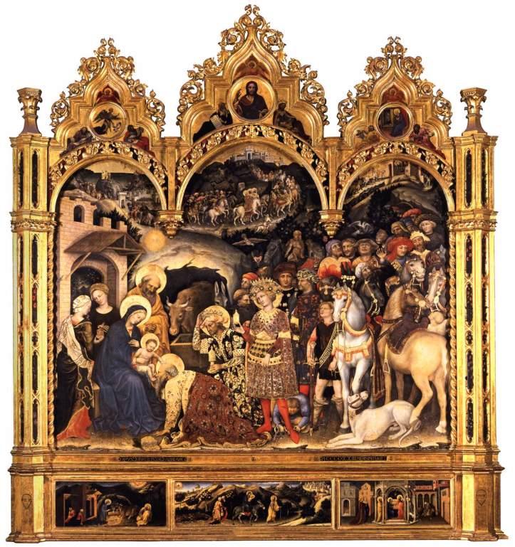 Gentile da Fabriano_Adoration of the Magi_1423_Tempera on wood_Uffizi_Florence