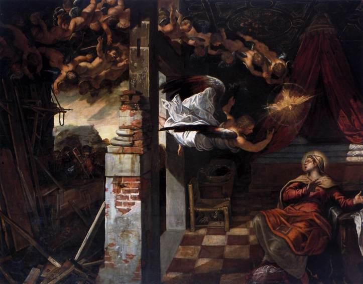 Tintoretto_Anunciación_1583-87_Oil on canvas_Scuola Grande di San Rocco_Venecia