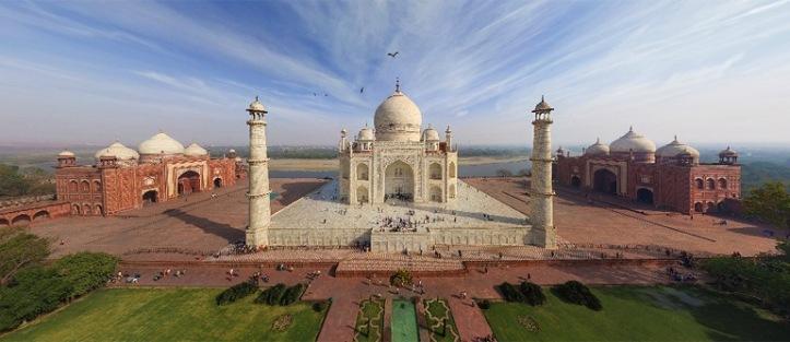 Vista del complejo del Taj Mahal